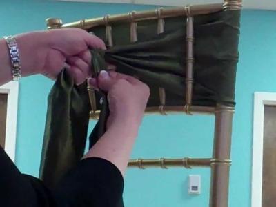 How To Tie A Satin Sash Chiavari Chair
