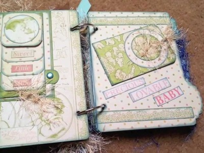Little Darling (Graphic 45) - Baby Boy Mini Scrapbook