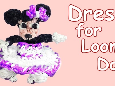 Loom Bands Dress for Minnie Mouse or Loom Doll (Hook only, no Rainbow Loom)