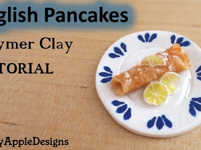Miniature English Pancakes - Polymer Clay TUTORIAL