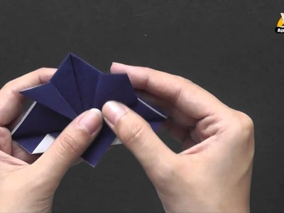 Origami in Kannada - How to make a Samurai Hat