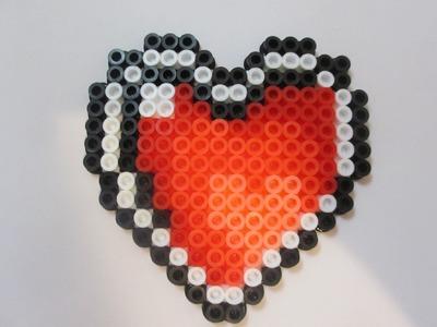 Perler Bead Zelda Heart Container