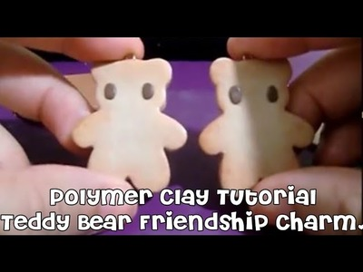 Polymer Clay Tutorial: Teddy Bear Cookie Friendship Charm.