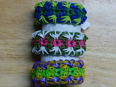 "Rainbow Loom Bracelet - Original Design - ""EMBROIDERY"" (ref #5i)"
