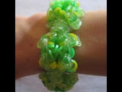 Rainbow Loom- How to make a Turtle Bracelet (Original Pattern)
