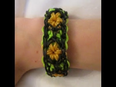 Rainbow Loom- How to Make a Royal Gem Bracelet (Original Pattern)
