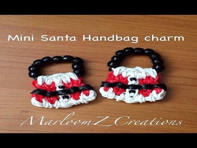 Rainbow Loom Mini Santa Handbag Charm On 5 pins - Original Design