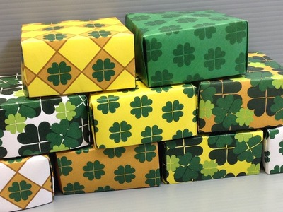 St. Patrick's Day Clovers Pattern Origami Paper