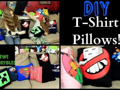 T-Shirt Pillows DIY - Easy No Sew Up-cycle!