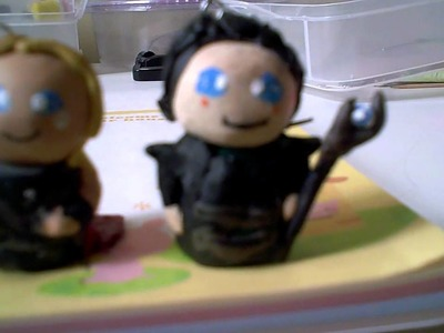 ♥Thor and Loki Avengers Polymer Clay Chibi Doll Charms♥