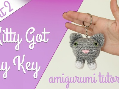 Amigurumi Tutorial: Kitty Keychain - How to make Face, Ears, Legs and Tail