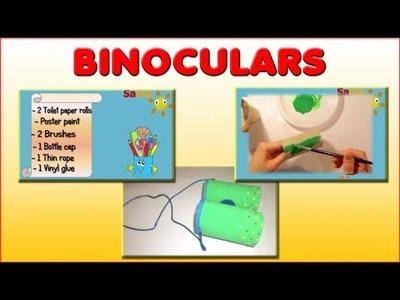 BINOCULARS: ORIGINAL PRESCHOOL ACTIVITIES - SIMPLE KIDS CRAFT for children, kids, babies