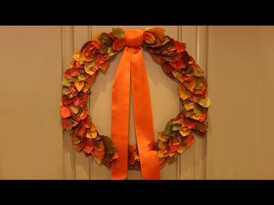 DIY Autumnal Leaf Wreath