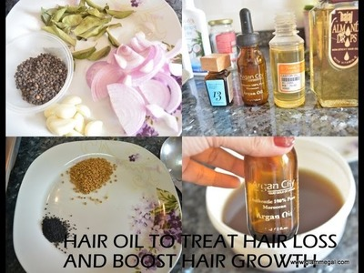 DIY Hair Oil for treating hair loss and damaged hair