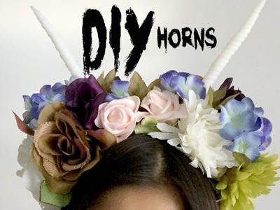 DIY Horns Tutorial | Antlers and Unicorn Horn for Halloween