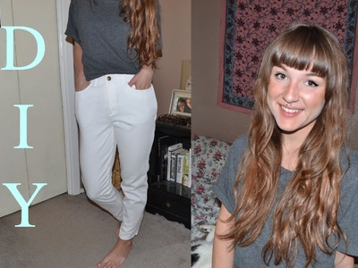 DIY How to Make Mom Jeans.High Waisted Jeans