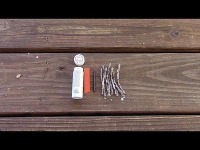 Diy pocket size fire starter kit