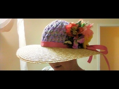 How to create a decorative straw hat