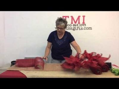 How to Create a Poinsettia Wreath