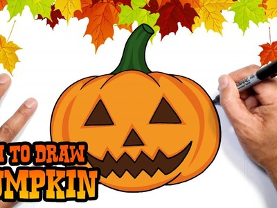 How to Draw Halloween Pumpkin- DIY Halloween Decorations