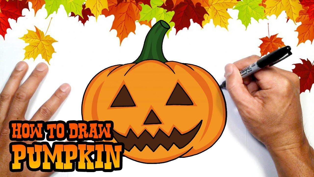 How to Draw Halloween Pumpkin- DIY Halloween Decorations