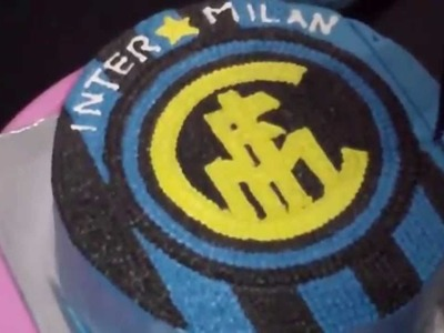How to Easy Decorate Inter Milan Logo Cake