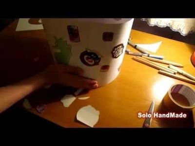 How to Make a Cute Wastepaper Basket - Solo HandMade