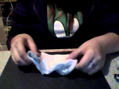 How to make bow (old sock)