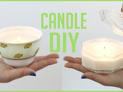 How to Make Candles | DIY Easy Scented Soy Candle