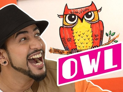 Mad Stuff with Rob – How to draw an owl | DIY Drawing for children