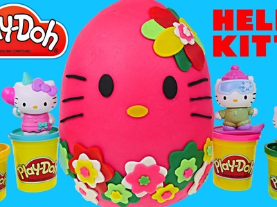 New Hello Kitty Cubolotti HUGE Hot Pink Play Doh Egg Surprise Fashem Toy Cube Eggs by DCTC