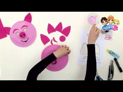 Pig mask - Kids Craft - HOW-TO videos (Hellokids)