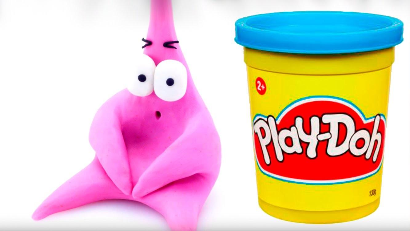 Spongebob Patrick Play doh STOP MOTION playdo video