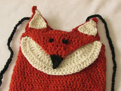 VERY EASY crochet fox backpack. bag. rucksack tutorial