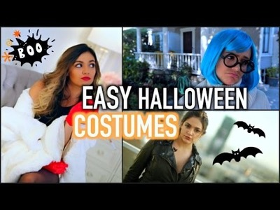 5 Adorable Quick + Easy DIY Halloween Costumes!!