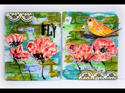 Art Journal page with Faber-Castell Design Memory Craft Whipped Spackle