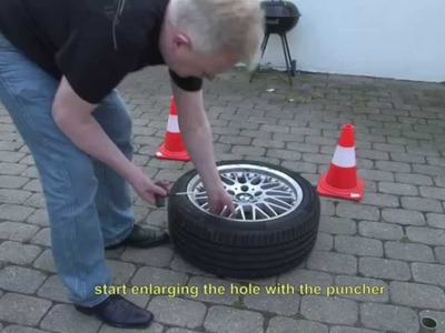 BMW 3 Series E46 flat tire repair - DIY