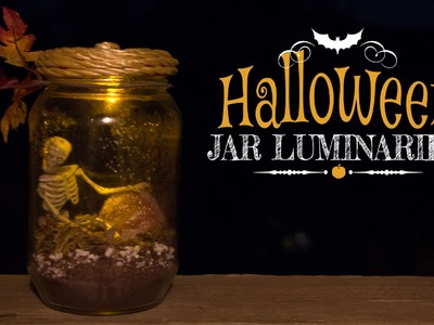 DIY Halloween Jar Luminaries. Decoracion de Halloween (Mason)