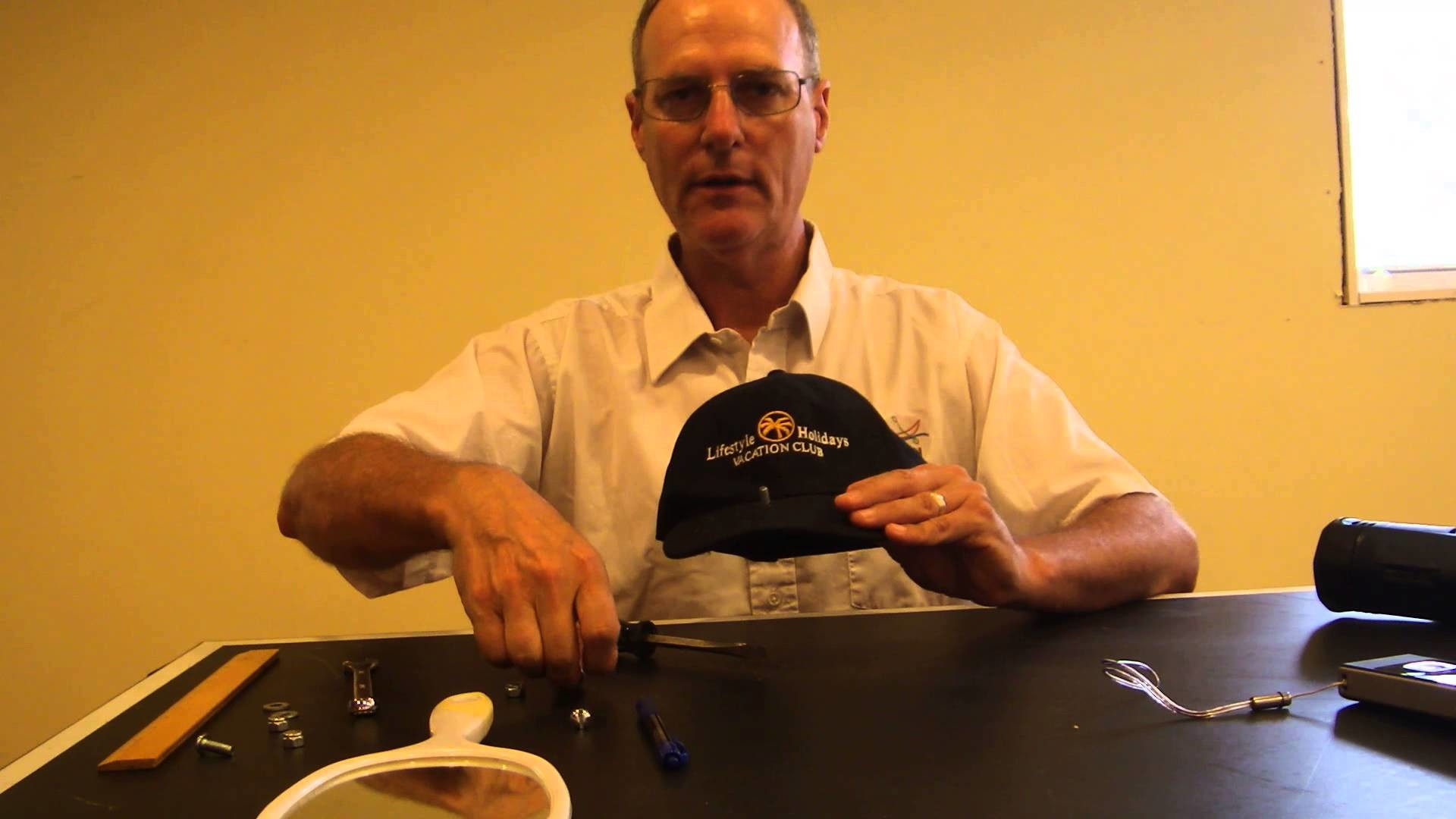 DIY hands free hat mount action video camera baseball cap