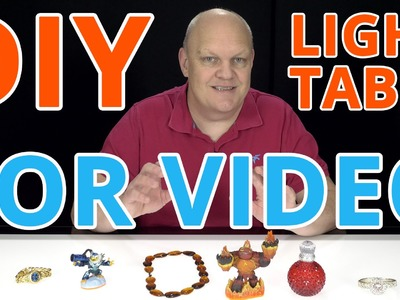 DIY Light Box. Back-lit Light Table - White Background for Table Top Video's, Unboxings