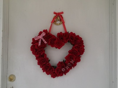 DIY Valentine's Day Wreath with tools from the Dollar Store