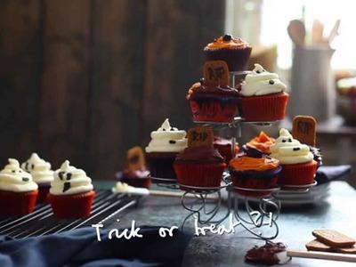 How To Decorate Halloween Cupcakes #JLCook