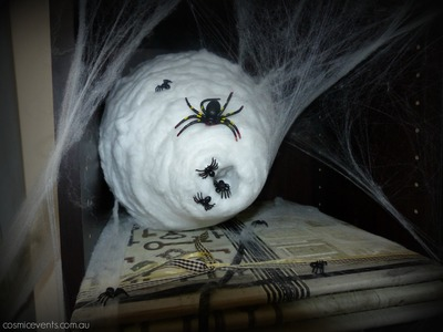 How to Make a Spiders' Nest | Halloween Tutorial 2015 DIY Decorating on a budget