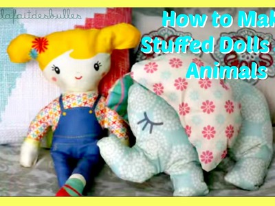 How To Make Stuffed Animals Dolls Toys DIY Sewing KIT À COUDRE | JazzyGirlStuff