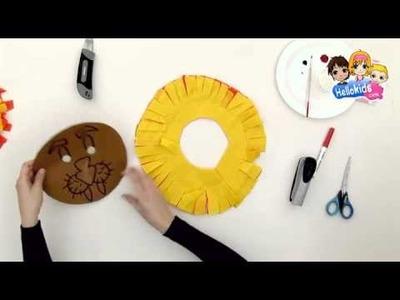 Lion mask - Kids Craft - HOW-TO videos (Hellokids)