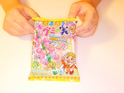 ASMR Japanese DIY Candy Kit - Kracie Narunaru Gummy No Mi Grape Vine