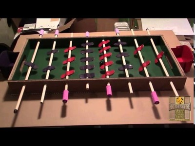 DIY Cardboard Foosball Table: The Cardboard Bible
