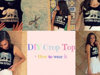 DIY Crop Top + How To Wear It
