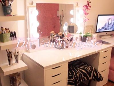 DIY Hollywood Vanity Lights Mirror | MsCookieMUA