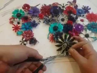 DIY - How to make a wedding brooch bouquet from start to finish